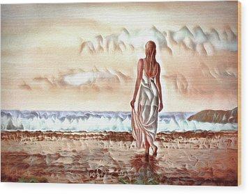 Wood Print featuring the digital art A Beautiful World by Pennie McCracken