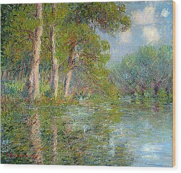 A Bend In The Eure Wood Print by Gustave Loiseau