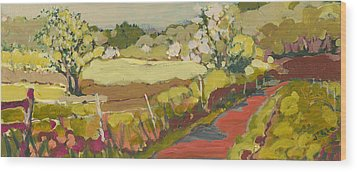 A Bend In The Road Wood Print by Jennifer Lommers
