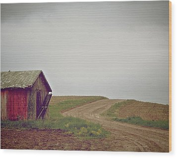 A Bend In The Road Wood Print by Odd Jeppesen