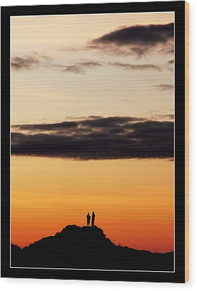 A Big Sky Wood Print by Mark Denham