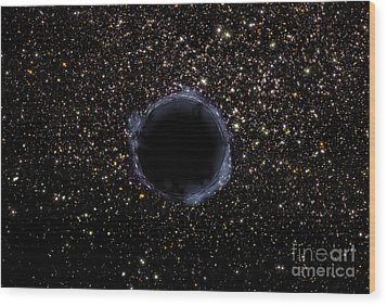 A Black Hole In A Globular Cluster Wood Print by Stocktrek Images