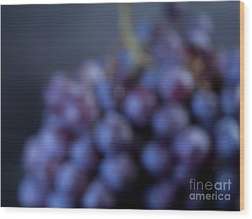 A Blue Bunch Of Grapes Wood Print by Patricia Bainter
