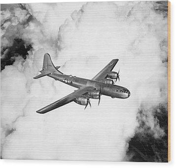 A Boeing B-29 Superfortress, Circa 1944 Wood Print by Everett