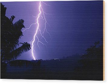 Wood Print featuring the photograph A Bolt From The Blue by Odille Esmonde-Morgan