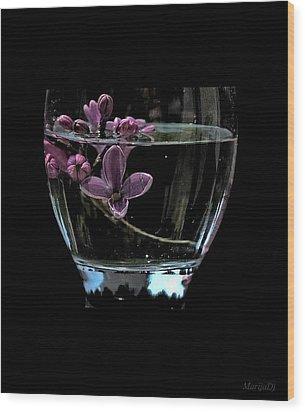 A Bowl Of Lilacs Wood Print by Marija Djedovic