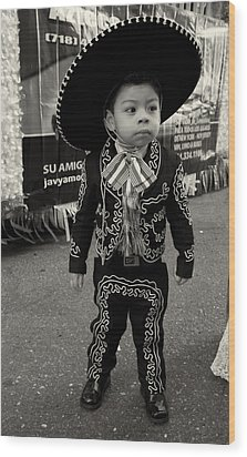 A Boy And His Sombrero 2 Wood Print