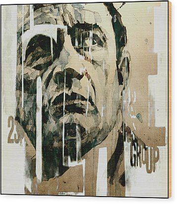 A Boy Named Sue Wood Print by Paul Lovering