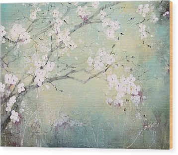 Wood Print featuring the painting A Breath Of Spring by Laura Lee Zanghetti