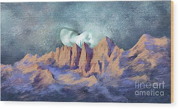 Wood Print featuring the painting A Breath Of Tranquility by Sgn