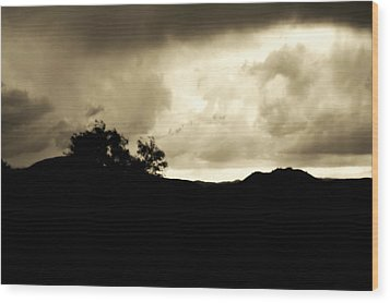 A Brewing Storm Wood Print