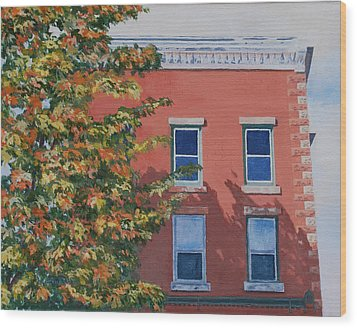 A Brick In Time Wood Print by Lynne Reichhart