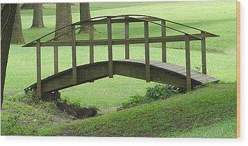 A Bridge In Washington County Wood Print by Luciana Seymour