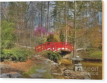A Bridge To Spring Wood Print