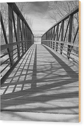Wood Print featuring the photograph A Bridge Too Far by Irma BACKELANT GALLERIES