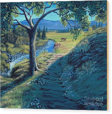 A Brighter Path Wood Print