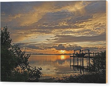 A Brooding Sunset Sky Wood Print by HH Photography of Florida