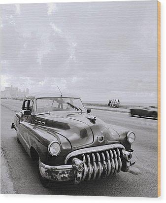 A Buick Car Wood Print by Shaun Higson