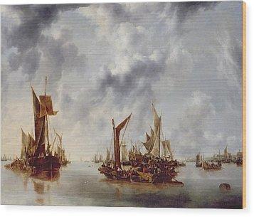 A Calm Wood Print by Jan van de Capelle