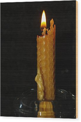 Wood Print featuring the photograph A Candle For Angels by Michael Canning