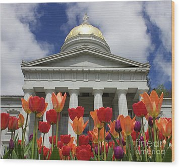 A Capitol Day Wood Print