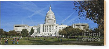 A Capitol View Wood Print by Mark Miller