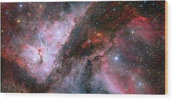 Wood Print featuring the photograph A Carina Nebula Pano by Nasa