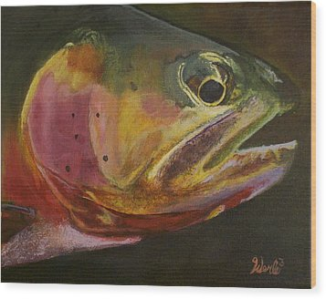 A Certain Cutthroat Wood Print by Bill Werle