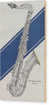 A Charles Gerard Conn Bb Tenor Wood Print