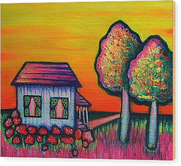 A Child's Dream Wood Print by Brenda Higginson