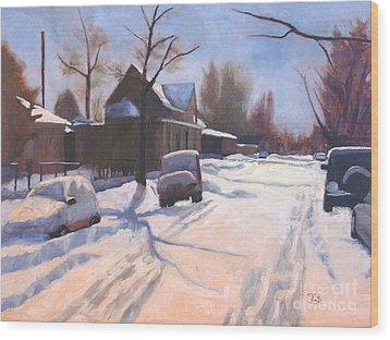 A Christmas Snow Wood Print