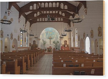 Wood Print featuring the photograph A Church Is Really Never Empty by Monte Stevens
