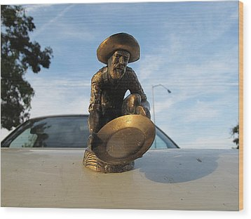 Wood Print featuring the photograph A Classic Hood Ornament Pickup Truck by John King