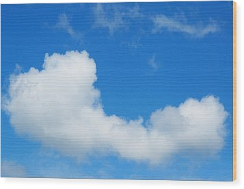 Wood Print featuring the photograph A Cloud For You by Gwyn Newcombe