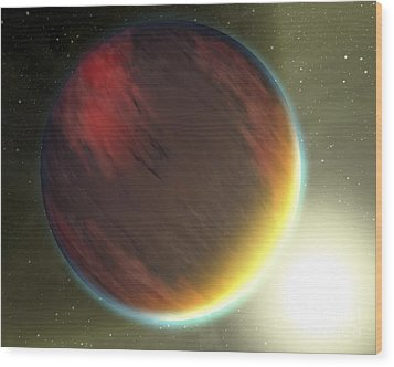 A Cloudy Jupiter-like Planet That Wood Print by Stocktrek Images