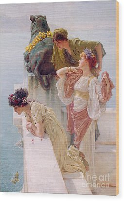 A Coign Of Vantage Wood Print by Sir Lawrence Alma-Tadema