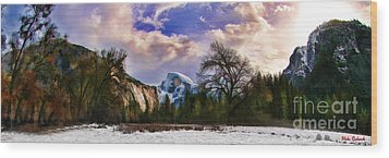 A Cold Yosemite Half Dome Morning Wood Print