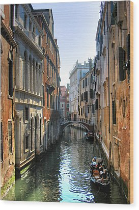 A Common Scene In Venice Wood Print