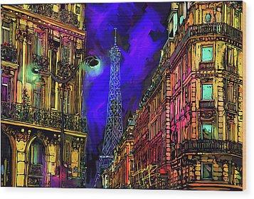 A Corner In Paris Wood Print