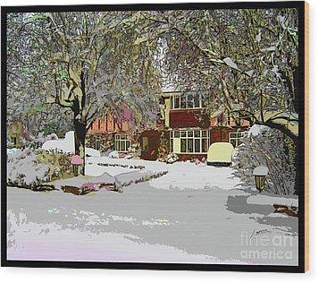 A Cosy Home Wood Print