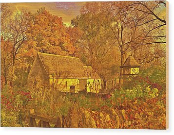 A Cotswald Fall  Wood Print by Daniel Thompson