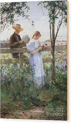 A Country Romance Wood Print by David B Walkley