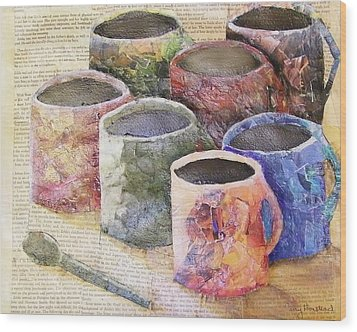 A Cuppa Wood Print by Terry Honstead