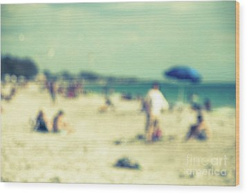 Wood Print featuring the photograph a day at the beach I by Hannes Cmarits