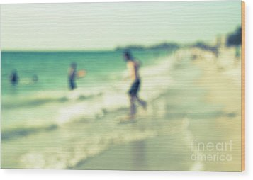 Wood Print featuring the photograph a day at the beach III by Hannes Cmarits