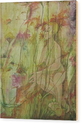 A Day In The Flowers Wood Print by Georgia Annwell