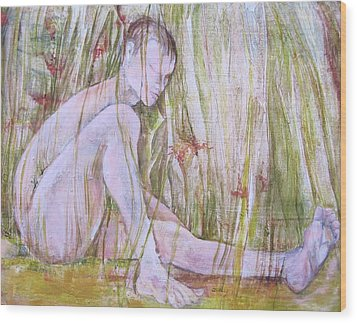 A Day In The Grass Wood Print by Georgia Annwell