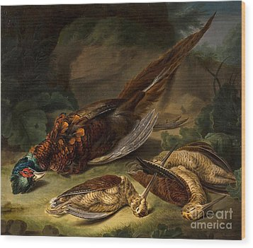 A Dead Pheasant Wood Print by MotionAge Designs