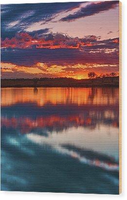 A Denver Dawn Wood Print