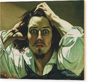 A Desperate Man Wood Print by Pg Reproductions